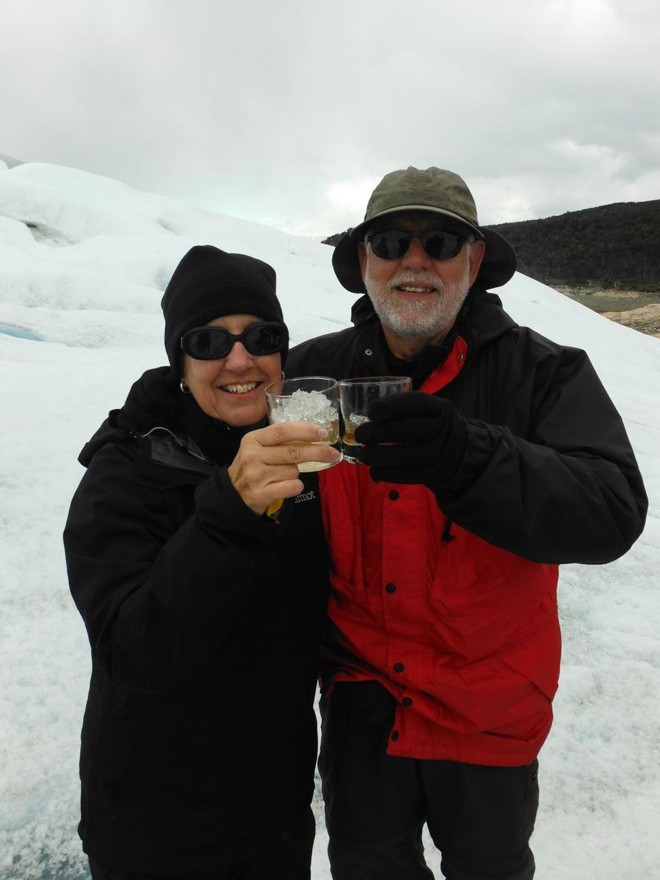 Glacier hike, toast