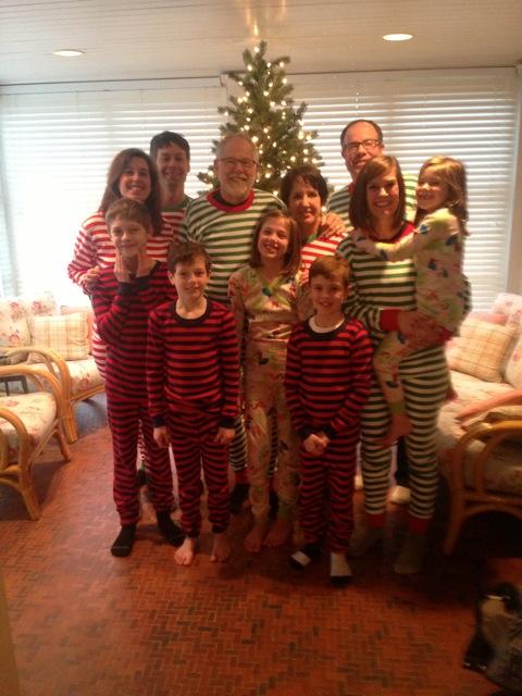 Erin & Brett gave everyone matching jammies for Christmas -- cozy!