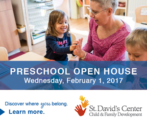 Open House ad & link for St. David's Center