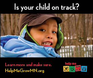 Is your child on track? ad & link for Help Me Grow