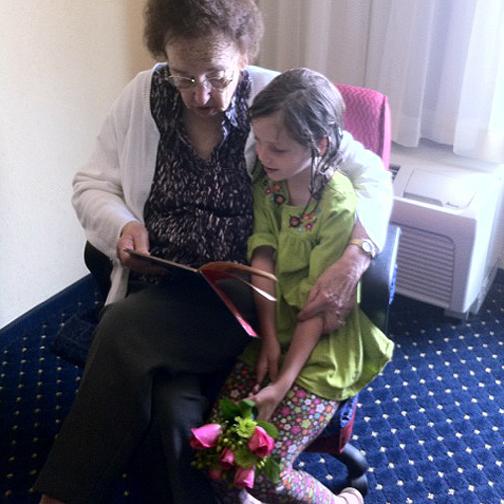 Grandma Betty & Clara, 2011