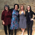 photo of 11th Annual Motherhood & Words Reading featured writers Susan Ito, Shannon Gibney and Judy Batalion with host Kate Hopper