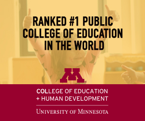 ad for U of M CEHD #1 ranked public college of education