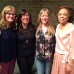 photo of women writers ME guests, Kaethe Schwehn, Erin O. White, Kate Hopper and Sophfronia Scott